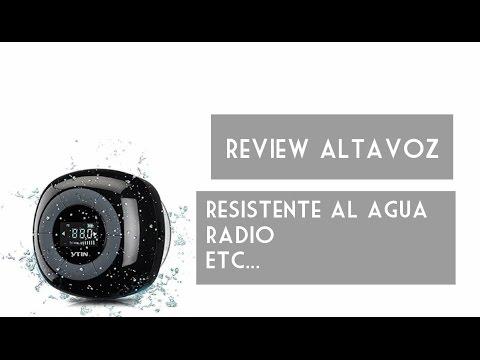 ANÁLISIS ALTAVOZ VICTSING, IMPERMEABLE, BLUETOOTH, RADIO FM, EN ESPAÑOL