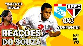 OLHA como o Souza reagiu a Sporting Cristal 0x3 São Paulo pela Libertadores