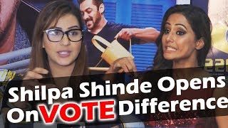 Shilpa Shinde REACTION On VOTE Difference Between Her And Hina Khan