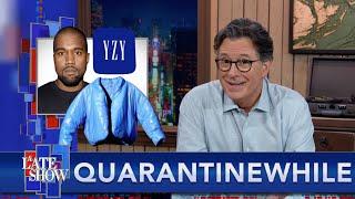 In kwarantyn ... Stephen Pitches Kanye West 'n paar idees vir Yeezy X Gap