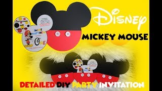 Detailed DIY Mickey Mouse Party Invitation