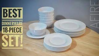 AmazonBasics 18-Piece Dinnerware Set Overview