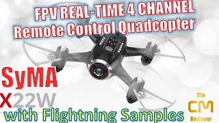 SYMA® X22W FPV Drone (Wifi Version) | Flight Examples | Hands-on (Deutsch, engl. hints)