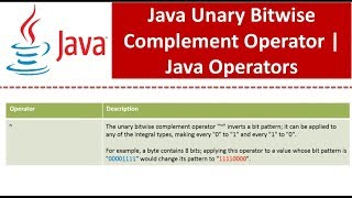 binary ones complement operator example - 免费在线视频最佳