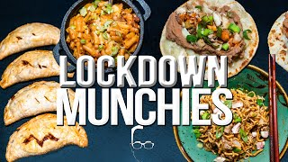 QUARANTINE (LOCKDOWN) MUNCHIES - 5 QUICK & EASY RECIPES FROM THE PANTRY   SAM THE COOKING GUY 4K