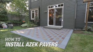 How to Install AZEK Pavers