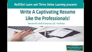 Write A Captivating Resume Like The Professionals
