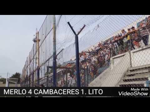 """""""Deportivo Merlo 4 Cambaceres 1 , goles Blanco, Azcurra x2, Molina"""" Barra: La Banda del Parque • Club: Deportivo Merlo"""