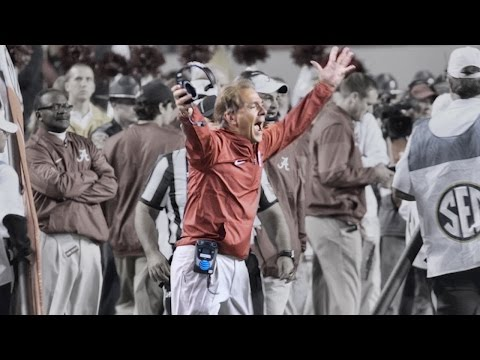 Nick Saban goes berserk on the sideline