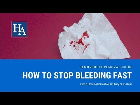 Il sangue va svelto come un lampo alla fine di defecazione