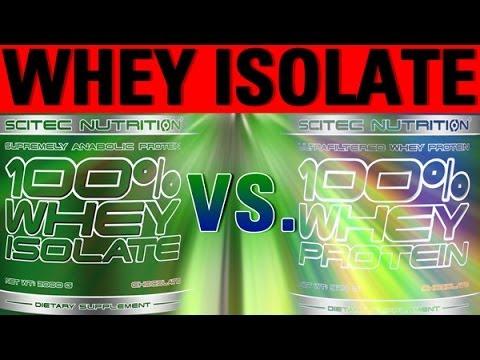 Whey Isolate vs. Whey Konzentrat - Protein Supplements