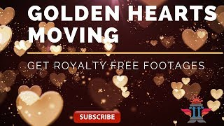 valentines day whatsapp video 2020 | golden hearts flying | heart background video | love background