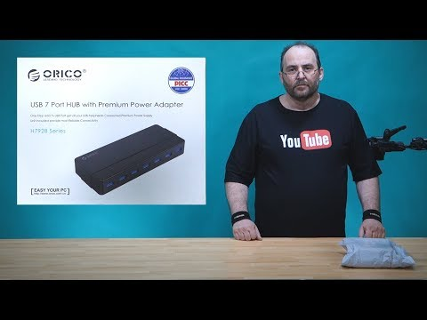 Orico 7 Port USB 3.0 Hub with AC adapter ~ unboxing & quick test ~ Česky ᴴᴰ