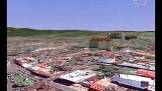 preview picture of video 'Virtual 3D city Uzhgorod Silverland3DMaps'