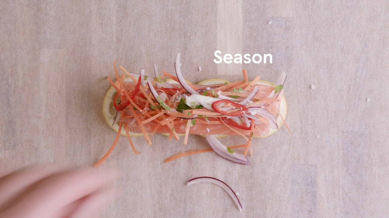 How to cook salmon en papillote