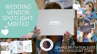 Wedding Planning: Vendor Spotlight- Minted Invitation Suite Sample Pack Review #weddingplanning