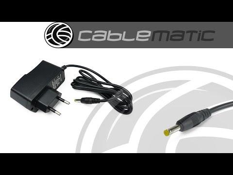 Fuente de alimentación universal adaptador 4,0mm 5VDC 1A distribuido por CABLEMATIC ®