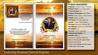 Endearing Funeral Program Obituary