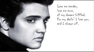 Elvis Presley - Love me tender (lyrics)