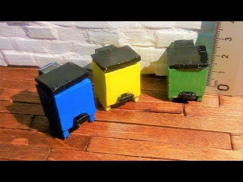 DIY: Mini cubo de basura con pedal