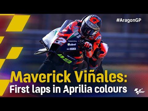 アプリリアに移籍したビニャーレスの最初の走りをまとめたハイライト動画 MotoGP 2021 第13戦アラゴンGP