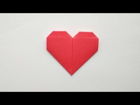 Оригами сердце. Как сделать сердечко из бумаги своими руками. Валентинка без клея и ножниц.