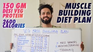 Vegetarian  High protein(150 g) INDIAN diet plan to build muscle naturally   हिंदी में