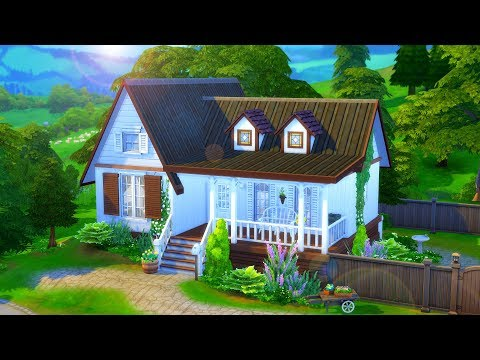 Simple Farm House // Sims 4 Speed Build