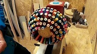 Woodturning-Coloured Pencil Explosion Bowl