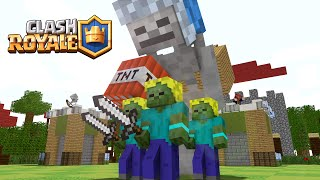 If Minecraft would be like Clash Royale ! ( Minecraft Animation )