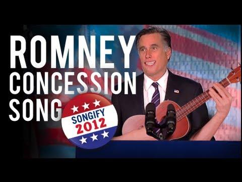 Mitt Romney zpívá na rozloučenou