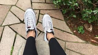 huge discount f4228 646b8 NIKE AIR MAX 97 Ultra Unboxing Try On Size Review   Silver Bullet   Cream