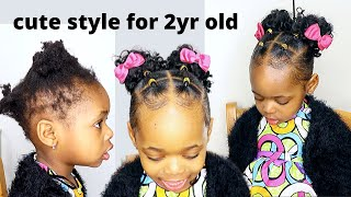 Simple And Easy Hairstyle For 2yr Old On Short Natural Hair | Hairstyle For Kids |Little Black Girls