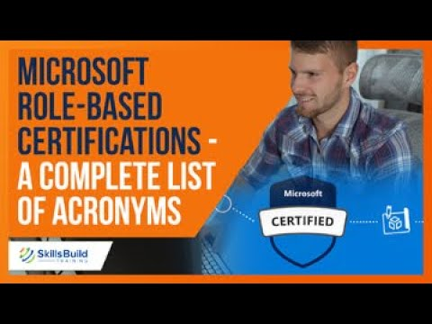 Microsoft Role-Based Certifications - A Complete List of Acronyms ...