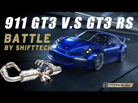 Porsche 991 GT3 VS GT3 RS iPE Titanium exhaust amazing sound HD