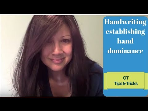 Screenshot of video: Top tips to develop hand dominance