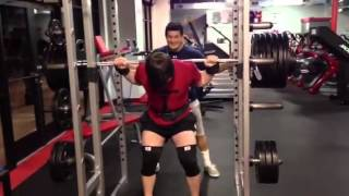 Corey Bourgeois 650lb raw deadlift (slip) 620lb raw squat