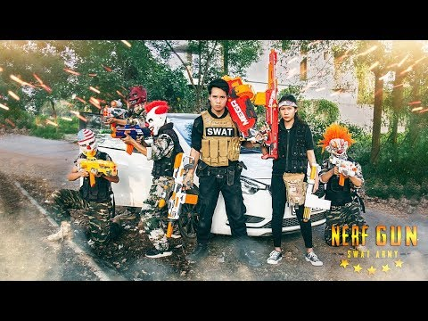 Dangerous Task : GUGU WARRIORS Police patrol Fight Nerf guns crime organization Nerf War