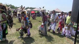 Opening of Pow Wow Ceremonial Dance - Rocky Mountain House July 2014