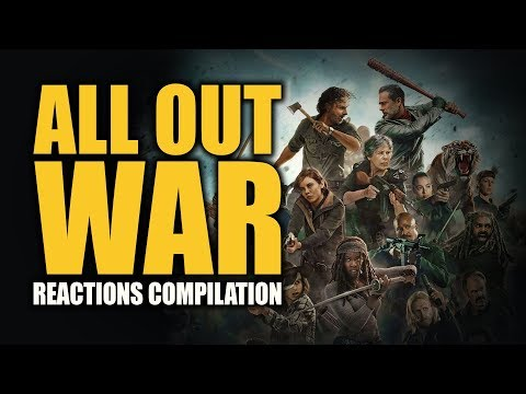 The Walking Dead Season 7 | ALL OUT WAR Reactions Compilation