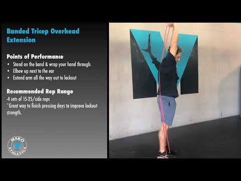 Banded Overhead Tricep Extension