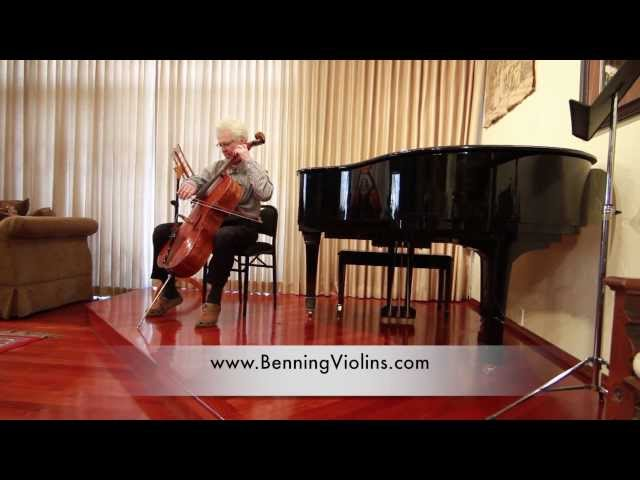 Cellist Ronald Leonard Performs at Benning Violins 60th Anniversary