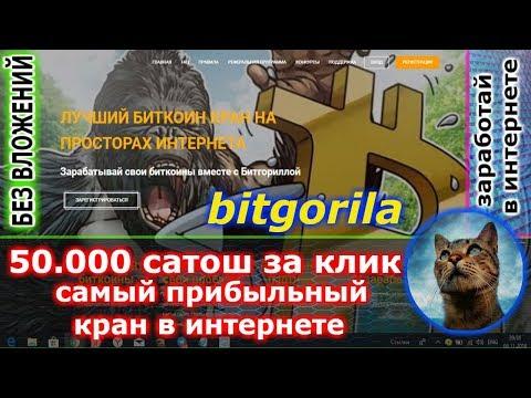 NEW bitgorila - получи 50.000 сатош за клик ( ОЧЕНЬ БРИБЫЛЬНЫЙ  )