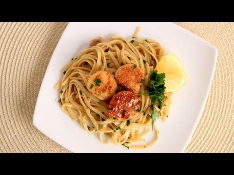Scallop Scampi over Linguine Recipe – Laura Vitale – Laura in the Kitchen Episode 534
