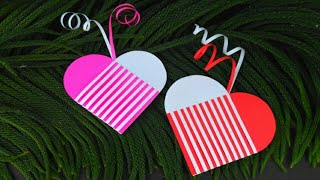 Heart Crafts With Paper | Heart Shape Paper Craft | Valentine Craft Ideas |  Valentine Paper Crafts