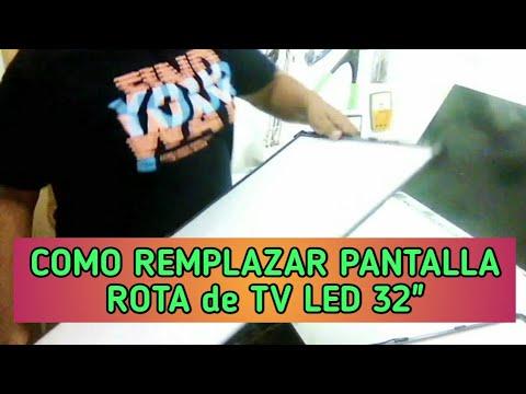Como Cambiar ó Adaptar Panel de Repuesto en TV LED de 32