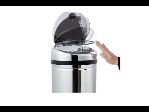 Kitchen Move Luxe - Pattumiera ad apertura automatica con sensore, in acciaio INOX