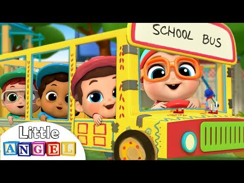 Wheels on the Bus at SchoolLearning Arts and CraftsKids Songs and Nursery Rhymes Little Angel