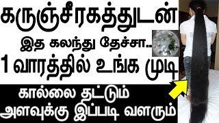 கருஞ்சீரகத்துடன் இத கலந்து தேச்சா 1 வாரத்தில் உங்க முடி கால்லை தட்டும் | Hair Growth In Tamil