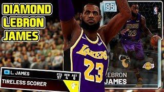 DIAMOND LEBRON JAMES 57PT GAMEPLAY! HE CAN DO EVERYTHING! NBA 2k19 MyTEAM